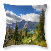 Montana-glacier National Park-grinnell Glacier Trail Throw Pillow
