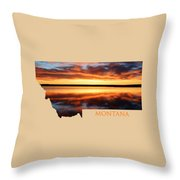 Montana Glory Throw Pillow