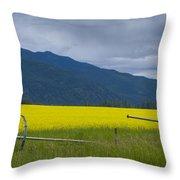 Montana Gold Throw Pillow