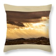 Montana Gold Throw Pillow