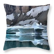 Montana Icebergs Throw Pillow