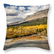 Montana Landscape In Fall Throw Pillow
