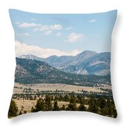 Montana Mountains Throw Pillow