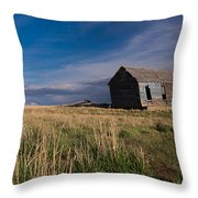 Montana Prairie Homestead Throw Pillow