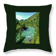 Montana River Throw Pillow