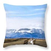 Montana Scenery One Throw Pillow