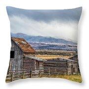 Montana Scenery Throw Pillow