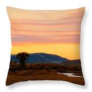 Montana Skies Throw Pillow
