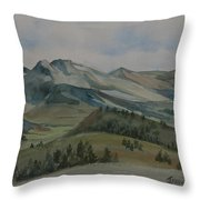 Montana Skyline Throw Pillow