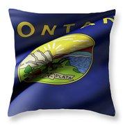 Montana State Flag Throw Pillow