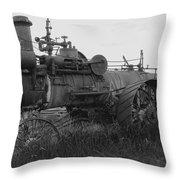 Montana Steam Farm Tractor Throw Pillow
