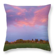 Montana Sunset 2 Throw Pillow