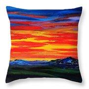 Montana Sunset Colors                     72 Throw Pillow