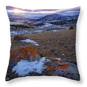 Montana Sunset Throw Pillow