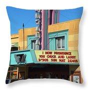 Miles City Montana - Theater Throw Pillow
