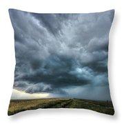 Montana Thunderstorm Throw Pillow