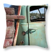 Montana Truck Throw Pillow