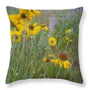 Montana Wildflowers Throw Pillow