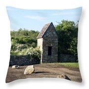 Montauk Guard House 1 Throw Pillow