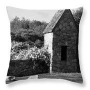 Montauk Guard House 2 B W Throw Pillow