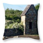 Montauk Guard House 2 Throw Pillow