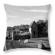 Montauk Guard House B W Throw Pillow