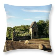 Montauk Guard House Throw Pillow