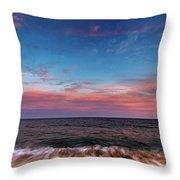 Montauk Pink Surf Throw Pillow