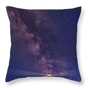 Montauk Point And The Milky Way Throw Pillow
