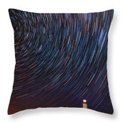Montauk Star Trails Throw Pillow