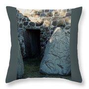 Monte Alban Danzantes Stone Throw Pillow