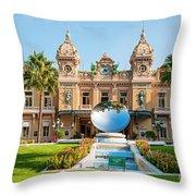 Monte Carlo Casino And Sky Mirror In Monaco Throw Pillow