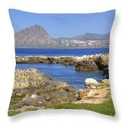 Monte Cofano - Sicily Throw Pillow