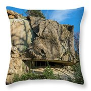 Monte Moro Bunkers - Bunkers Monte Moro Throw Pillow