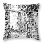 Montefioralle Tuscany Throw Pillow