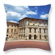 Montepulciano Piazza Grande Throw Pillow