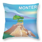Monterey Bay California Horizontal Scene Throw Pillow