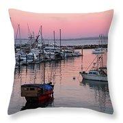 Monterey Bay Harbor Throw Pillow