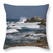 Monterey Coastline Throw Pillow