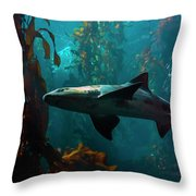 Monterey Depths Throw Pillow