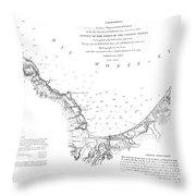Monterey Harbor California 1852 Throw Pillow