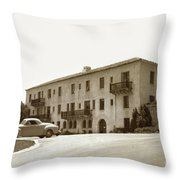 Monterey Hospital Was Built In 1930 At 576 Hartnell St, Monterey Throw Pillow