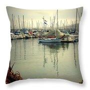 Monterey Marina II Throw Pillow