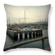 Monterey Marina Throw Pillow