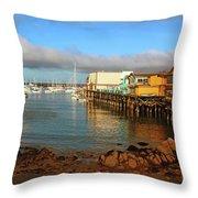 Monterey Wharf Throw Pillow