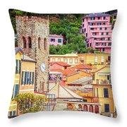 Monterosso Al Mare Cinque Terre Italy Throw Pillow
