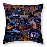 Monterosso By Night Throw Pillow