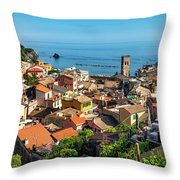 Monterosso In The Cinque Terre Throw Pillow