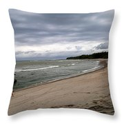 Montezuma Beach Walk Throw Pillow