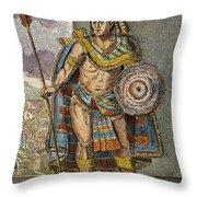 Montezuma II (1480?-1520) Throw Pillow